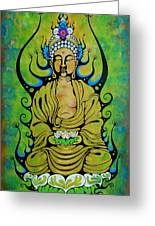 Crowned Buddha Greeting Card