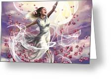 Crowned With Glory... Dancing In Glory Greeting Card