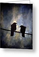Crows And Sky Greeting Card