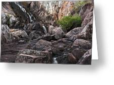 Crows Nest Falls During The Day. Greeting Card