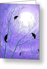 Crows On Empty Branches Greeting Card