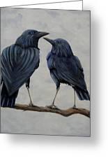 Crows Greeting Card