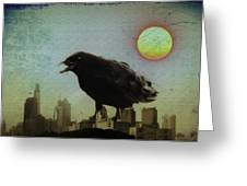 Crowzilla Greeting Card