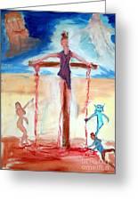 Crucifixion Of Jesus Greeting Card