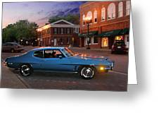 Cruise Night In Liberty Greeting Card