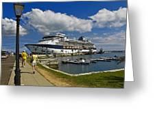 Cruise Ship In Bermuda Greeting Card