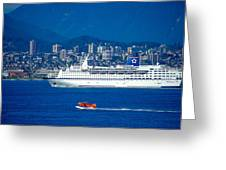 Cruise Ship In Vancouver Greeting Card