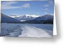 Cruise Ship Mountains Greeting Card