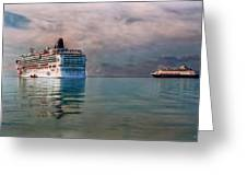 Cruise Ship Parking Greeting Card