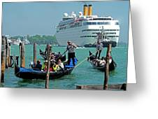 Cruise Ship Port Of Venice Greeting Card