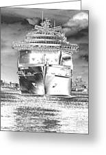 Cruise Ships In Chrome Greeting Card
