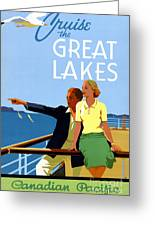 Cruise The Great Lakes Vintage Travel Poster Greeting Card