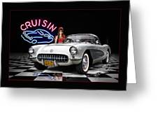Cruisin' The Diner .... Greeting Card