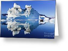 Cruising Between The Icebergs, Greenland Greeting Card