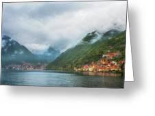 Cruising Lake Como Italy Greeting Card