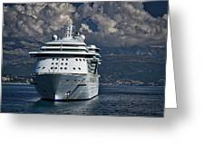 Cruising The Adriatic Sea Greeting Card