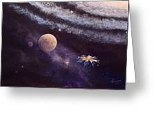 Cruising The Stars Greeting Card