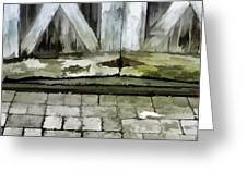 Crumbling Old Door Greeting Card