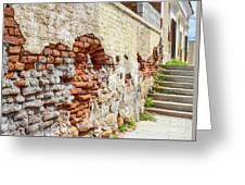 Crumbling Wall Greeting Card