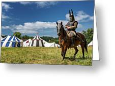 Saddled Up For Battle, Denmark Greeting Card