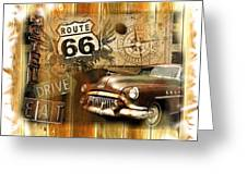 Crusin N Dining On Rt 66 Greeting Card