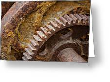 Crusty Rusty Gears Greeting Card