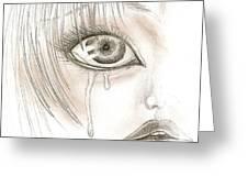 Crying Eye Greeting Card