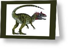 Cryolophosaurus Dinosaur Tail Greeting Card