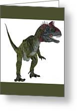 Cryolophosaurus On White Greeting Card