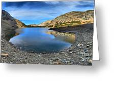 Crypt Lake Gold And Blue Greeting Card