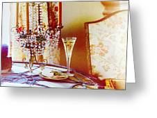Crystal And Champagne Greeting Card