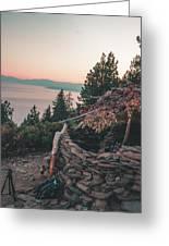 Crystal Bay Hut Greeting Card