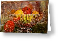 Crystal Bowl Of Fruit Greeting Card