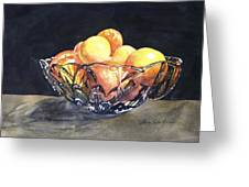 Crystal Bowl With Fruit Greeting Card
