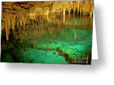 Crystal Cave Hamilton Parish Bermuda Greeting Card