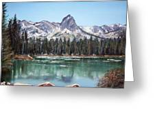 Crystal Crag From Twin Lakes Mammoth Ca Greeting Card
