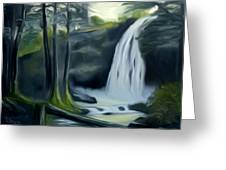 Crystal Falls In The Black Forest Dreamy Mirage Greeting Card