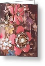 Crystal Flowers Greeting Card