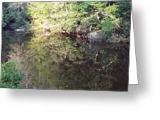 Crystal Lake Reflection Greeting Card