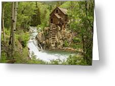 Crystal Mill In July Greeting Card
