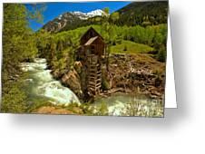 Crystal Mill Summer Landscape Greeting Card