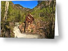 Crystal Mill Through The Trees Greeting Card