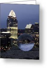 Crystal Skyline Greeting Card