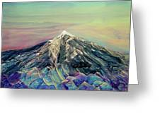 Crystalline Mountain Greeting Card