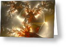 Crystals Of Gold Greeting Card