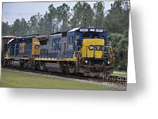 Csx 5955 Through Folkston Georgia Greeting Card