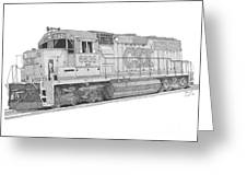 Csx Diesel Locomotive Greeting Card
