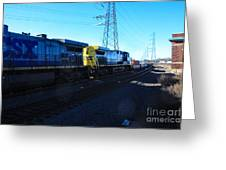 Csx Engines Going Bye Bound Brook Train Stations Greeting Card