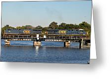 Csx On Mills Bayou Greeting Card