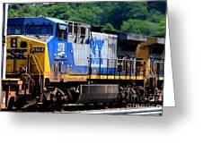 Csx Train 378 Greeting Card